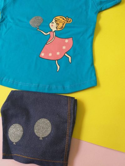 1005 2 scaled 400x533 - تیشرت شلوارک دخترانه عروسکی