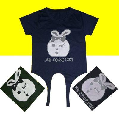 q6 400x400 - تیشرت اسپرت جلو گرهی خرگوش