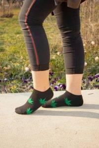 جوراب مچی طرح برگ
