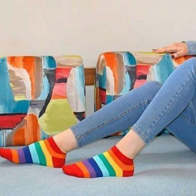 جوراب مچی رنگین کمان