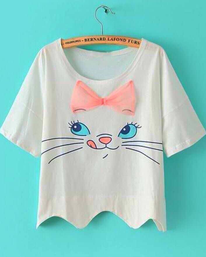 تیشرت دمپا دندونه ای گربه