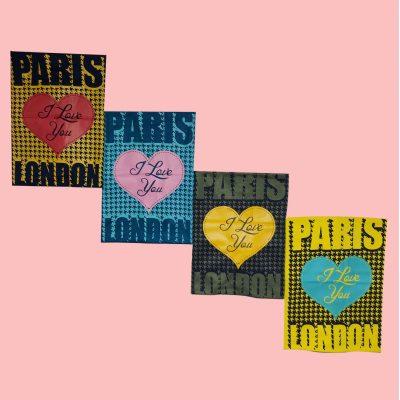 ۲۰۲۱۰۵۰۱ ۲۱۵۵۰۱ 400x400 - تیشرت سوپر قواره آستین افتاده چاپ قلب PARIS