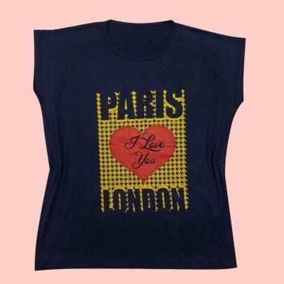 4 min 1 400x400 - تیشرت سوپر قواره آستین افتاده چاپ قلب PARIS