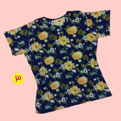 T shirt 1 400x400 - تیشرت نخی ۲ دکمه گلدار