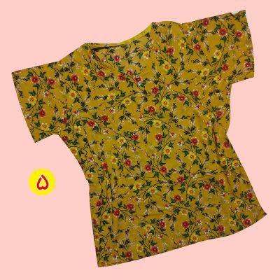 T shirt 7 400x400 - تیشرت نخی ۲ دکمه گلدار