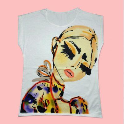 Tshirt 3 400x400 - تیشرت چاپ دختر