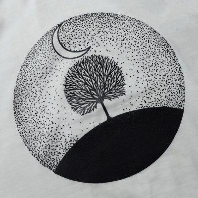 ۲۰۲۱۰۸ - تاپ چاپ شعر، درخت، یونیکورن